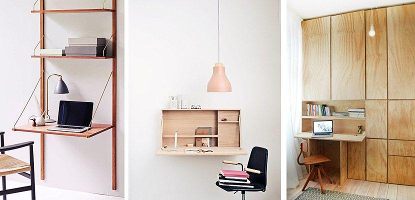 Los escritorios plegables te ayudan a ahorrar espacio -    www