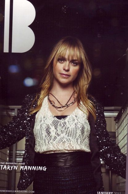 Taryn Manning on the cover of Bunker Hill Magazine wearing Pame' Sterling Silver Leatheret.  www.pamedesigns.com