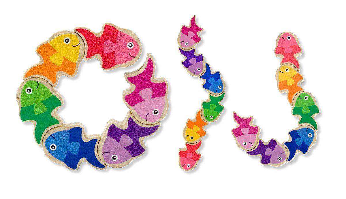 Amazon.com: Melissa & Doug Friendly Fish Grasping Toy: Toys & Games