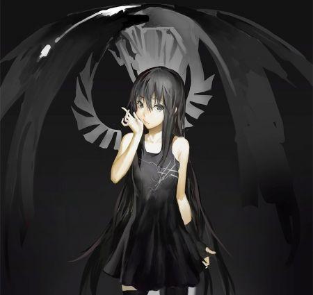Sweet Black Angel Desktop Nexus Wallpapers Angel Cartoon Dark Angel Wallpaper Anime Fallen Angel Dark angel anime wallpaper