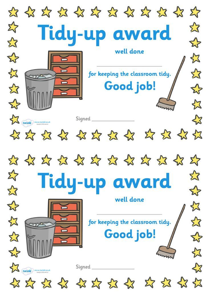 twinkl resources  u0026gt  u0026gt  tidy up award certificate  u0026gt  u0026gt  classroom