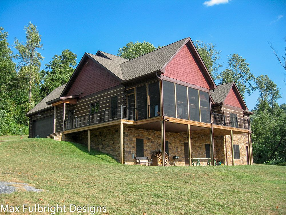 Craftsman Style Lake House Plan with Walkout Basement