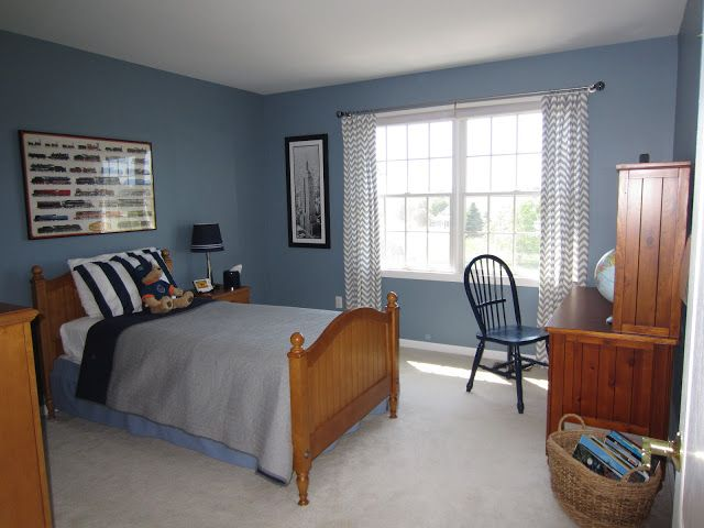 Blue Walls In Boys Bedroom Paint Color Amsterdam By Benjamin Moore