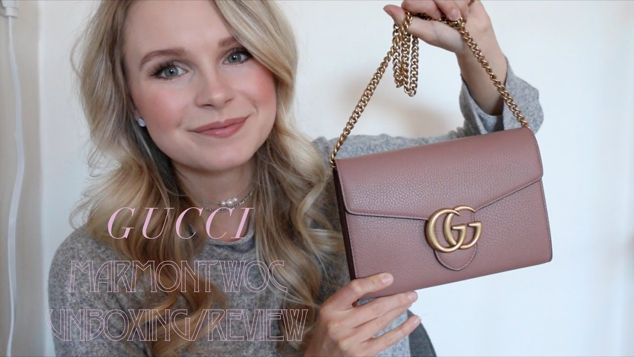 ... Signature Tote Red 73122  release date  e4ff6 1859f GUCCI MARMONT WOC  UNBOXING FIRST IMPRESSIONS  low ... 839f1a1598f9d