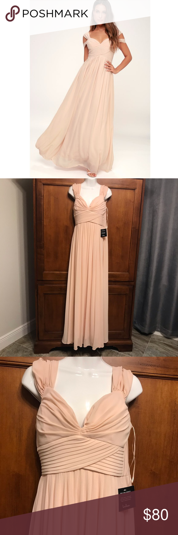 7396a4526421 Lulu's Blush Pink Prom Bridesmaid Gown M You'll be the hit of any dance