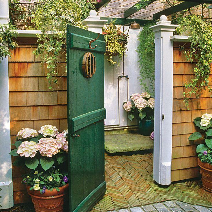 Garden Inspired Outdoor Shower