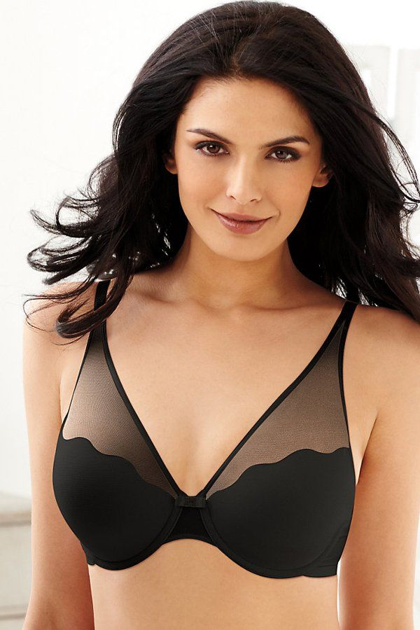 ca39ed795d Bali Sheer Sleek Desire Natural Lift Underwire Bra. Beautiful sheer stretch  mesh overlay on upper cups and straps makes this lovely bra a sexy choice.