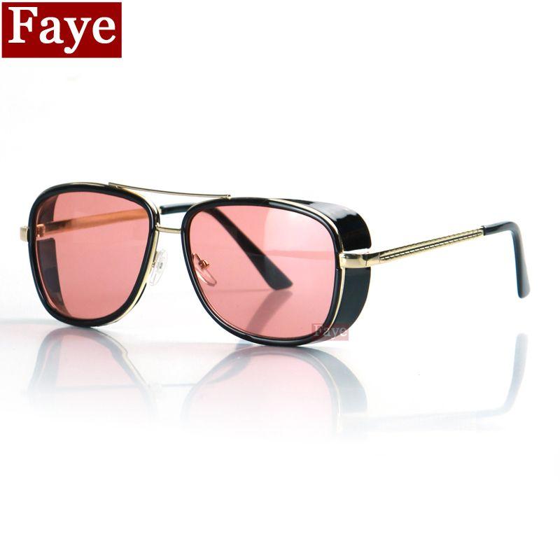 593ed9f304 2015 New IRON MAN TONY Sunglasses Men Mirrored Brand Glasses Vintage Sun Glasses  Free Shipping Oculos
