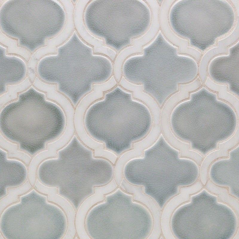 Nabi Arabesque Arctic Blue Marble Ceramic Tile Pinterest
