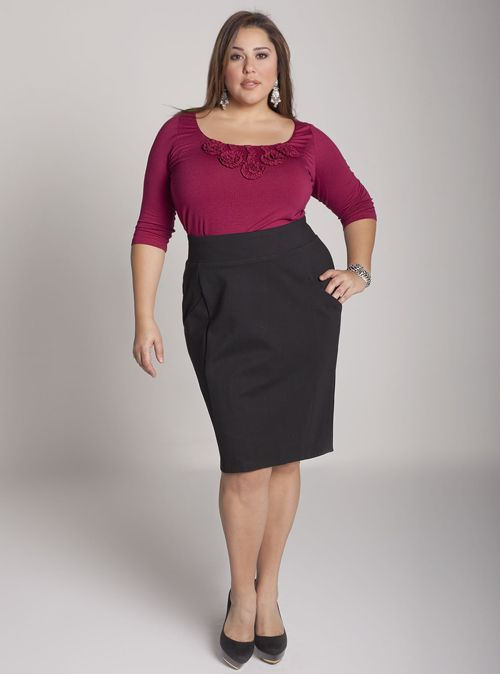 43f60ea5ad bardot-skirt | FASHION | Plus size pencil skirt, Designer plus size ...