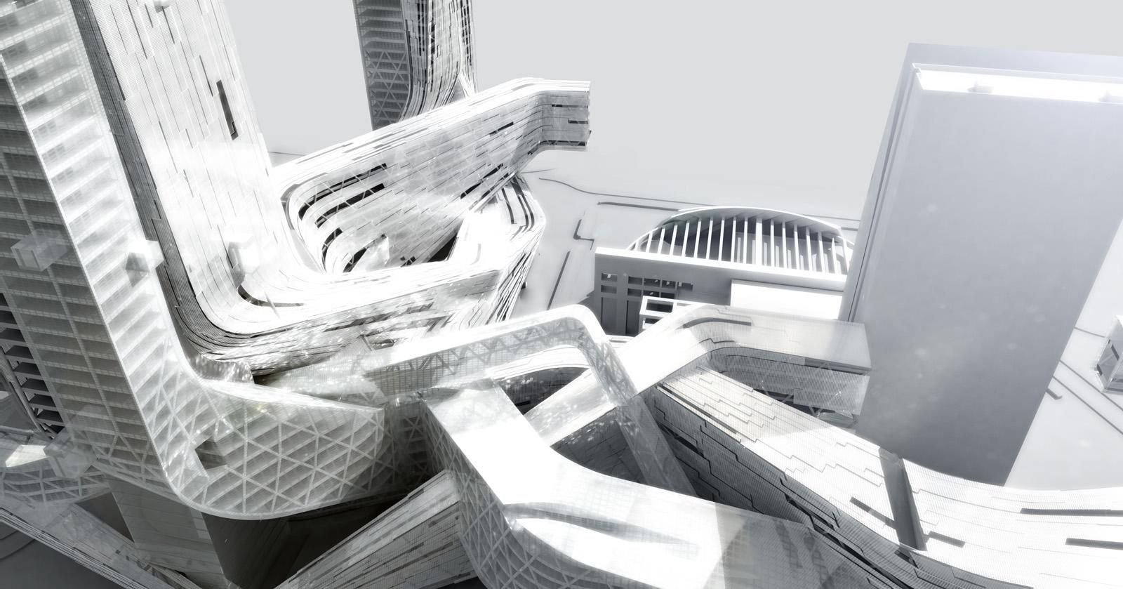 Four Towers Into One Interlaced System / Morphosis - eVolo | Architecture…