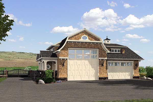 Plan 23450jd Stylish 6 Car Tandem Garage Garage Plans Rv Garage Rv Garage Plans