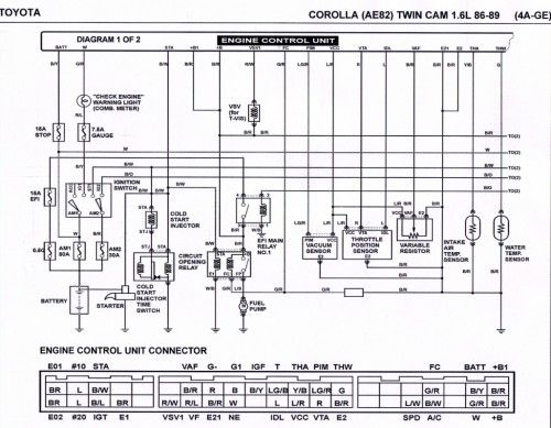 Ecu Ae824age Toyota Engine Wiring Diagram Corolla