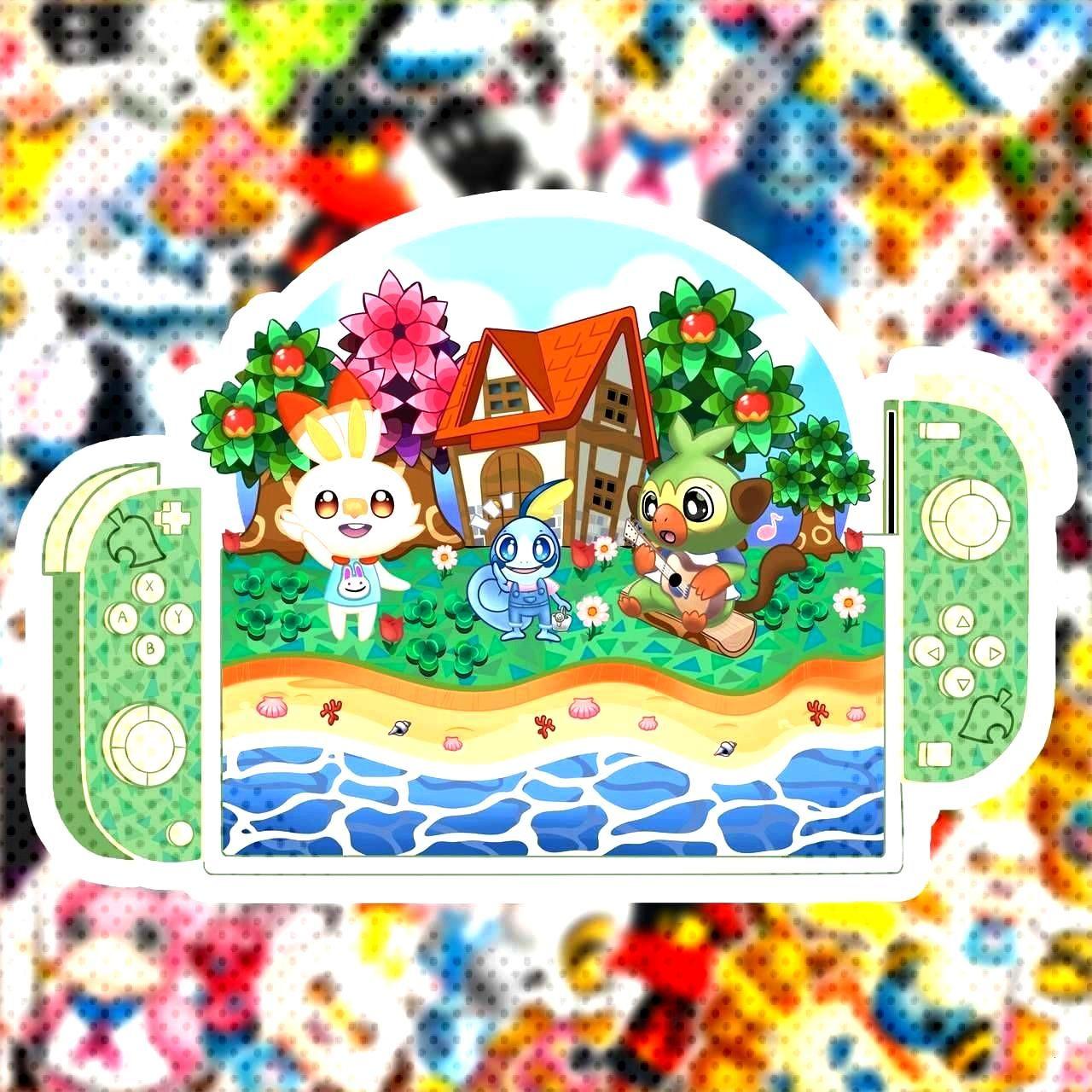 Pokemon X Animal Crossing Stickers made by BiyuDraws -