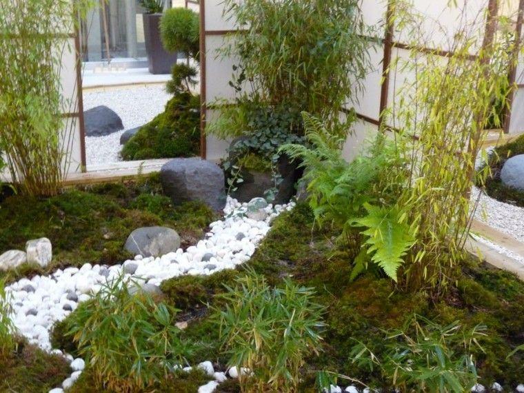 Patio interior de estilo japon s dise o de paisaje - Diseno patio interior ...