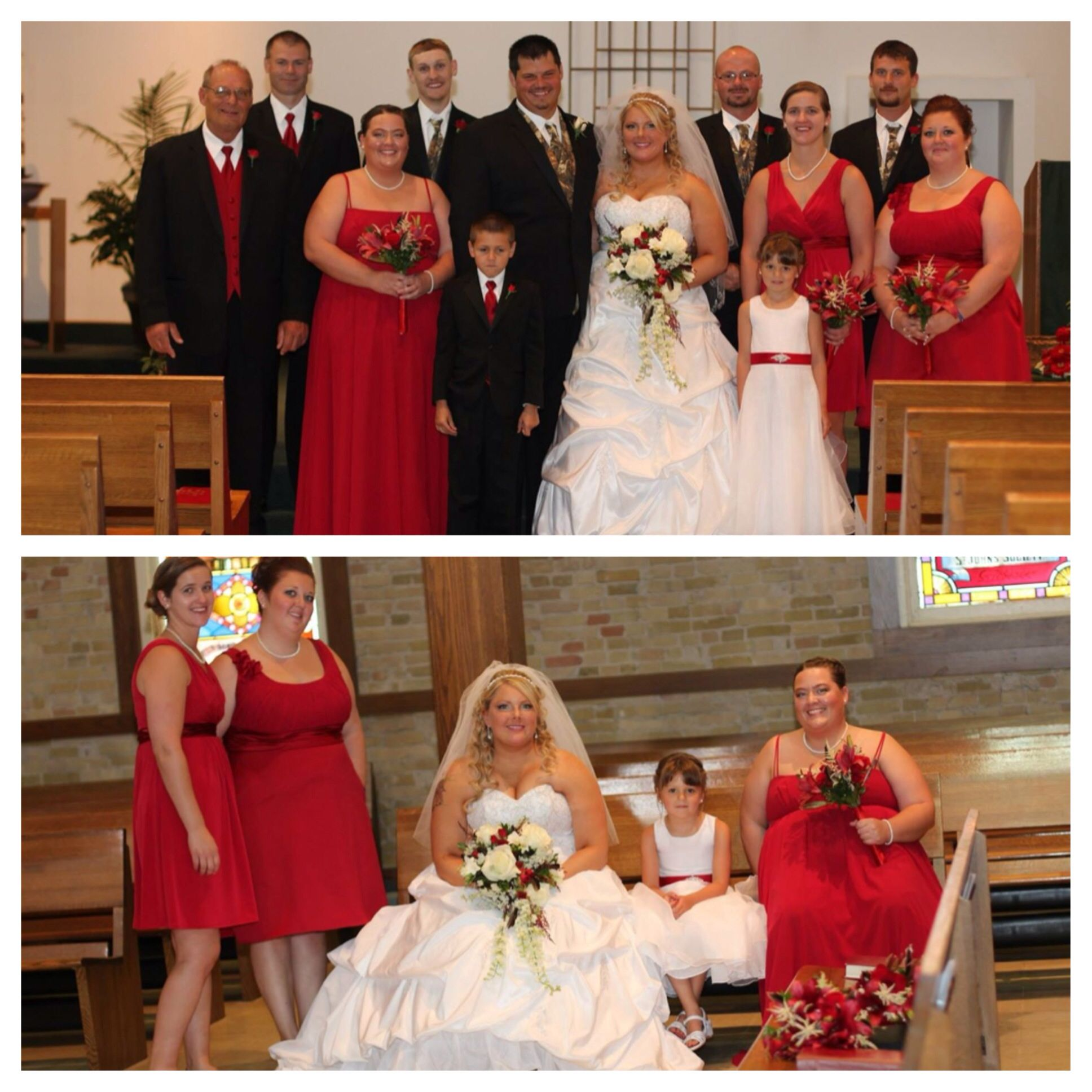 Red and camo wedding party pictures | Our beautiful, elegant ...
