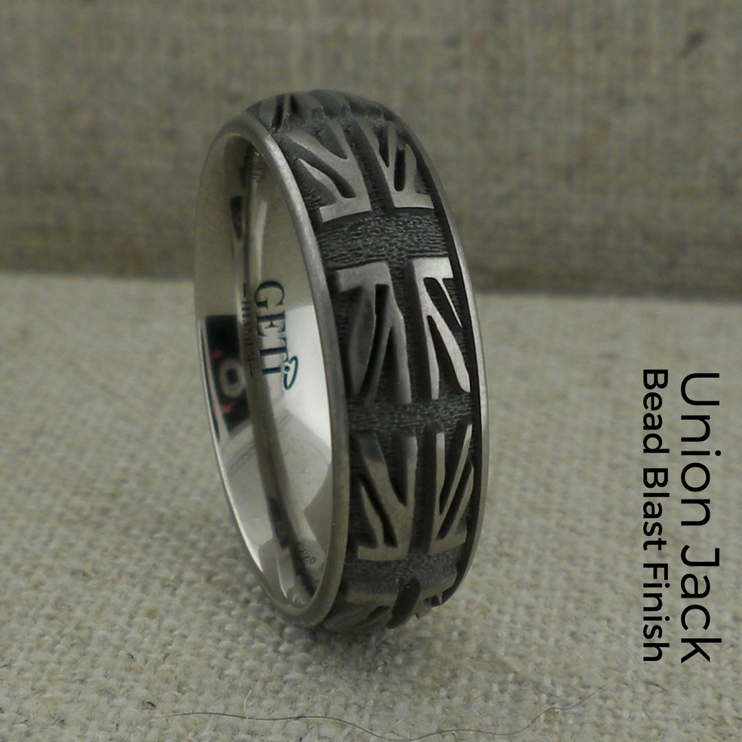 Union Jack Titanium Wedding Ring Unique Titanium Wedding Rings Titanium Wedding Rings Wedding Rings Unique Titanium Wedding