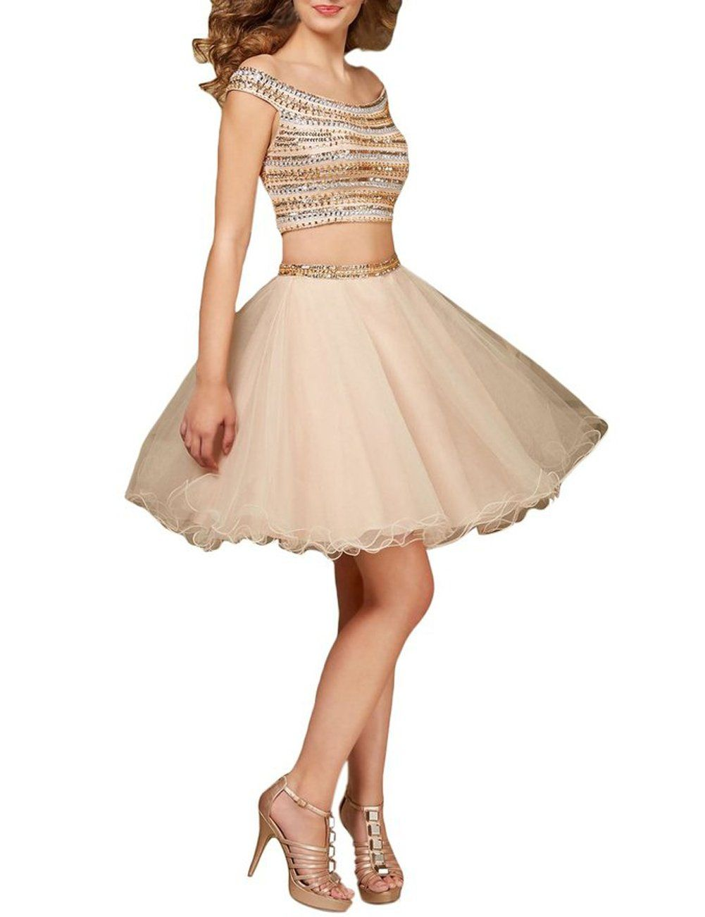 Dobelove womenus pieces mini dance prom skirt homecoming dress for