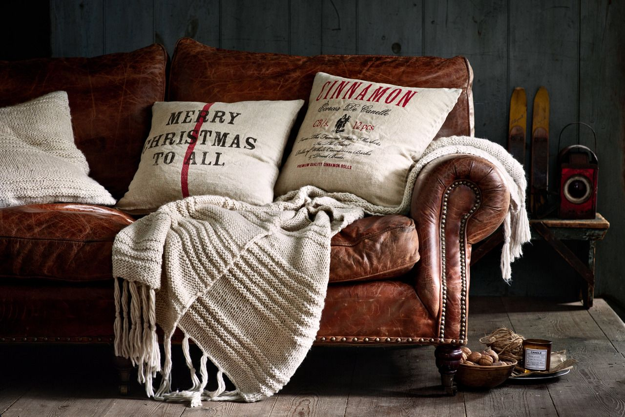 I Want Some Pillows And A Warm Throw Like This On My Sofa