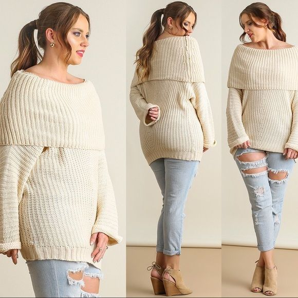 🏆HOST PICK🏆Cotton Blend Off Shoulder Sweater Boutique | Retail ...
