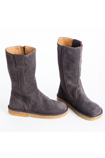 PePe Grey Suede Midcalf Boots | Little Skye Children's Boutique ...