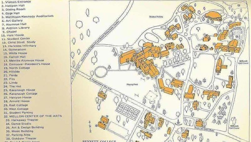 bennett college campus map Bennett School For Girls Located In Millbrook Ny Campus Map bennett college campus map