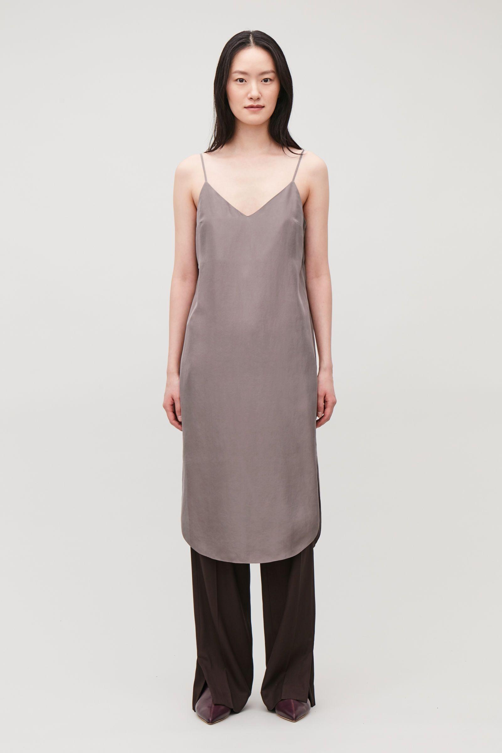 SILK SLIP DRESS Ganache Dresses COS