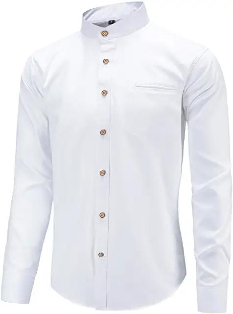 32+ Mens collarless dress shirt ideas