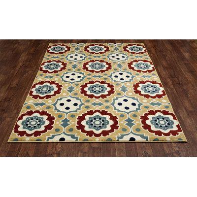 """Art Carpet Northville Machine Woven Beige Indoor/Outdoor Area Rug Rug Size: 9'2"""" x 12'4"""""""