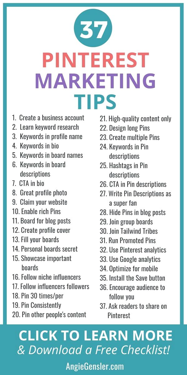 37 Brilliant Pinterest Marketing Tips (to Increase Your