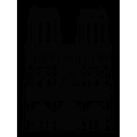 Vinilo Decorativo Catedral De Notre Dame De Paris Francia Europa De Estilo Gotico Finalizada En El Siglo Xiv Uno De Los Monumento Catedral Vinilo Paris