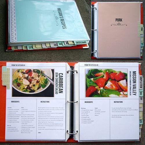 recipe book templates free