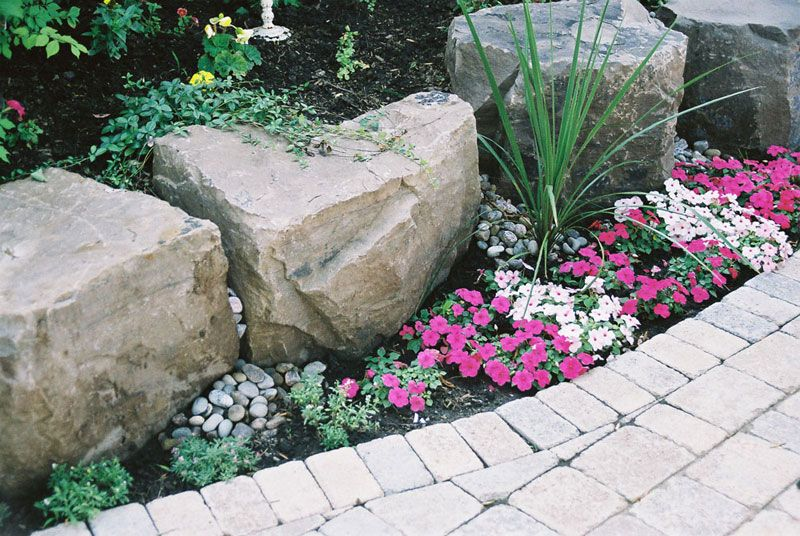 Texture Is Added To This Garden With Armour Stones 400 x 300