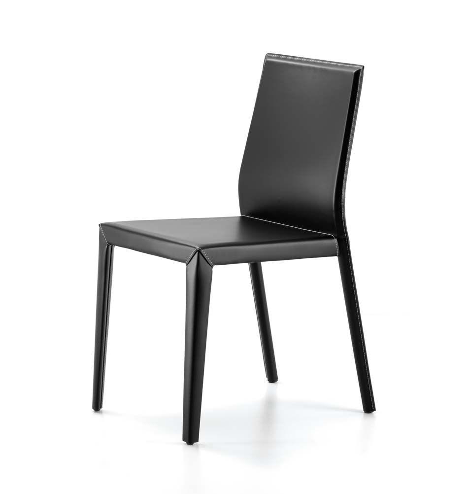 Cattelan Italia Lederstuhl Margot Schwarz Lederstuhle Italienische Mobel Und Stuhle