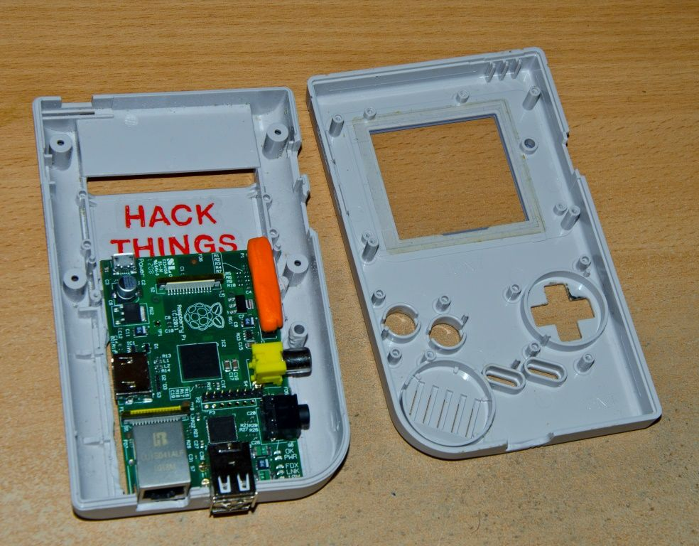 Raspberry PI in a #Game Boy Case  Want handheld PC for