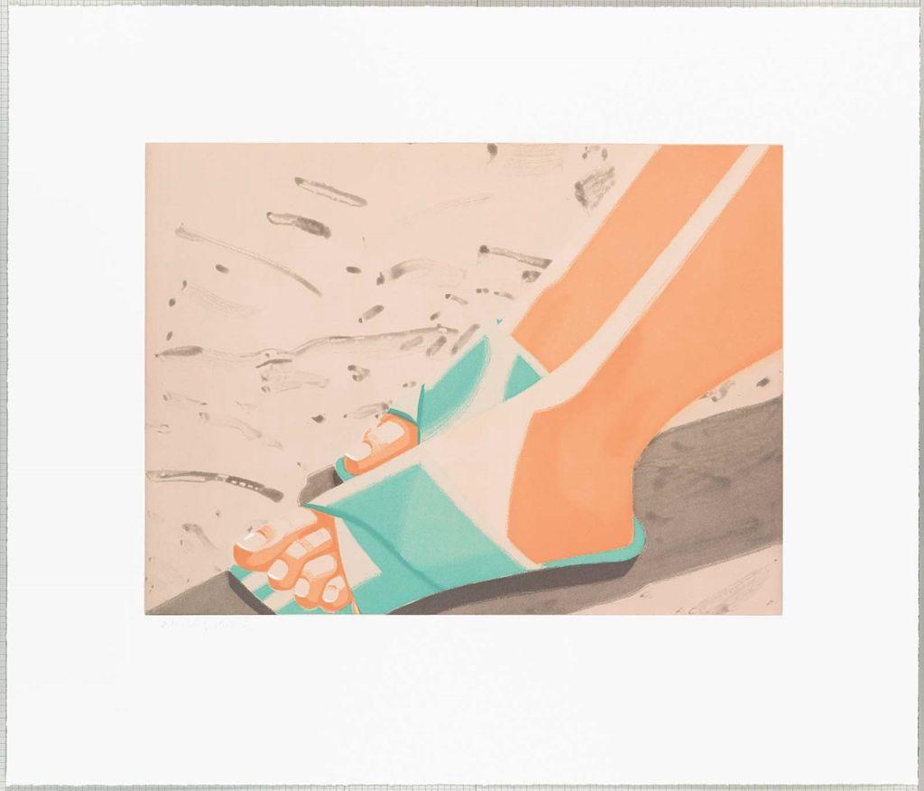 Alex katz beach sandals 1987 spit bite etching and for Katz fine art