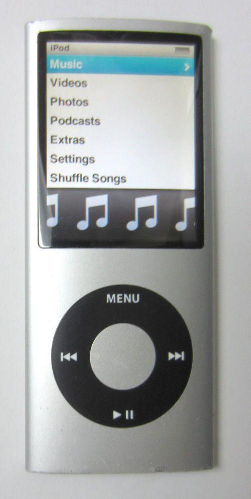 Apple iPod nano 4th Generation Silver (8 GB) MB598LL MP3