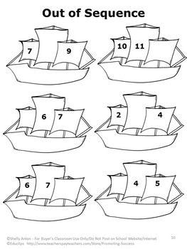 Columbus Day No Prep Math Activity Packet Print And Go Christopher Columbus Math Math Activities Christopher Columbus