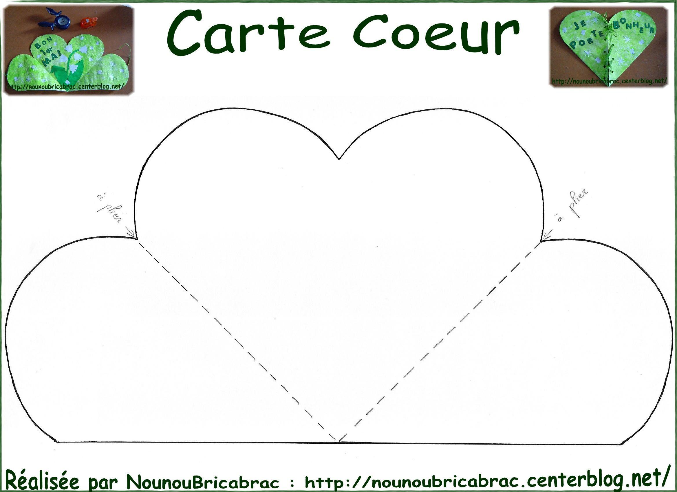 Gabarit de la Carte Coeur  décorer et découper