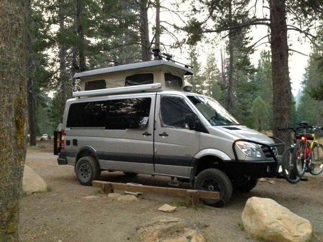 Completed 4x4 Sprinter with Aluminess Front and Rear bumpers at