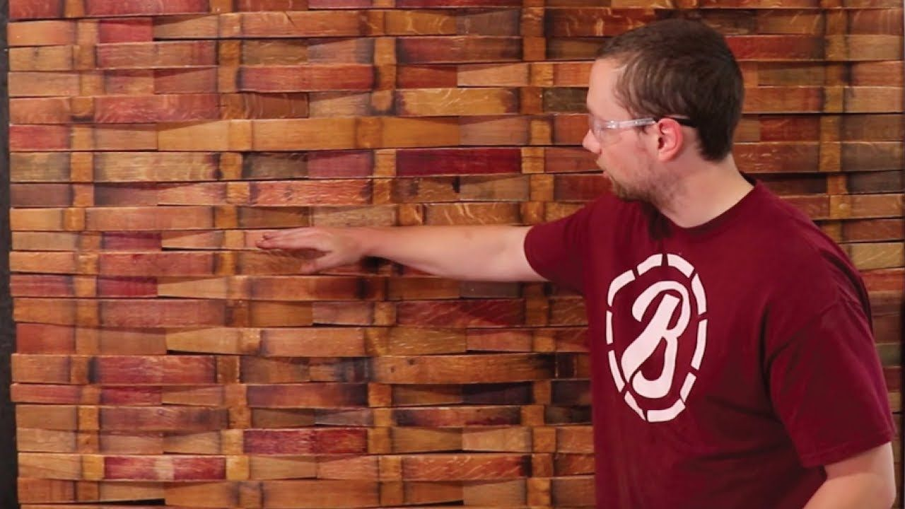 Stave Wall Install Wine Barrel Feature Wall YouTube in
