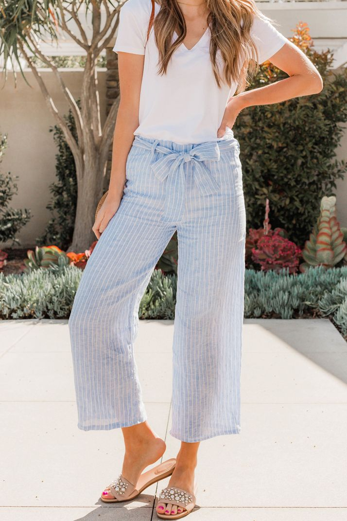 How to Sew Cropped Wide Leg Pants (Beginner Sewing Tutorial) | fešn ...