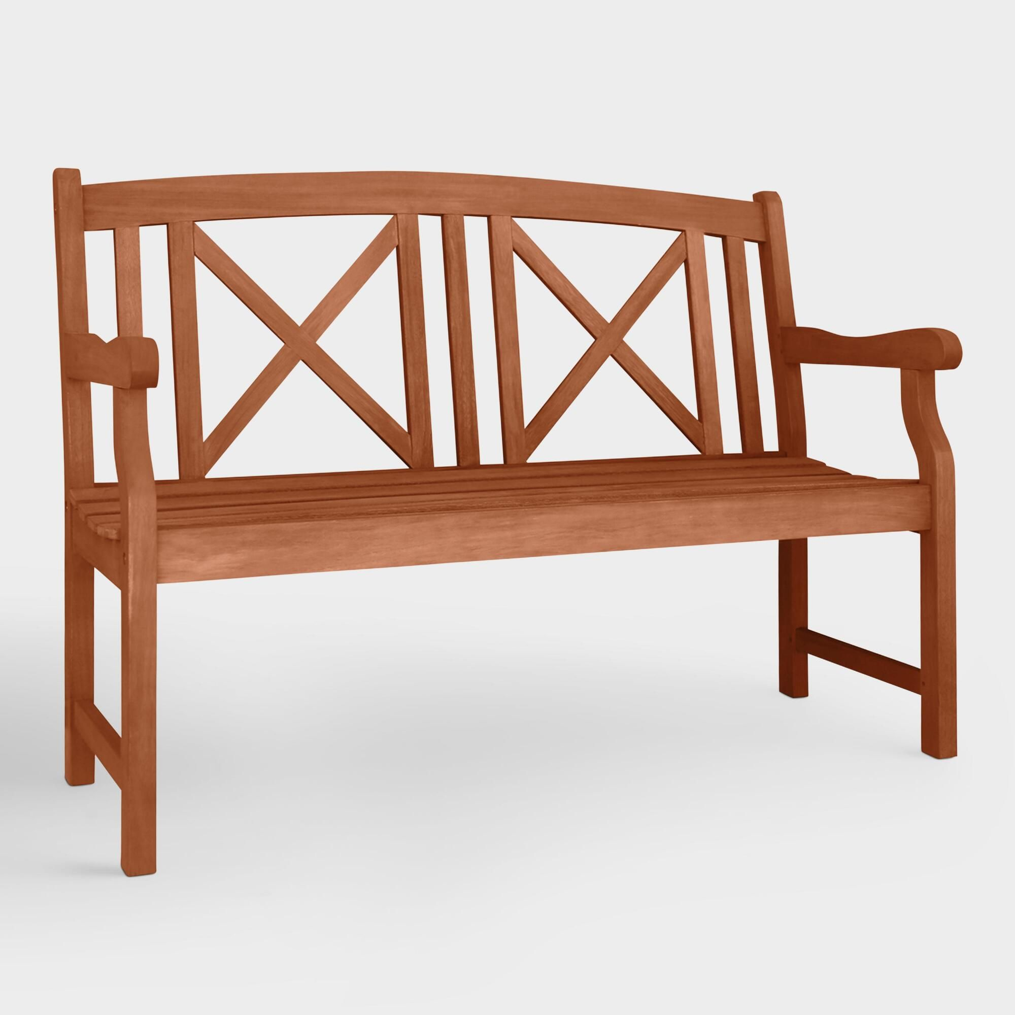 Tremendous Small Greenport Garden Bench Brown Green Natural Wood By Dailytribune Chair Design For Home Dailytribuneorg