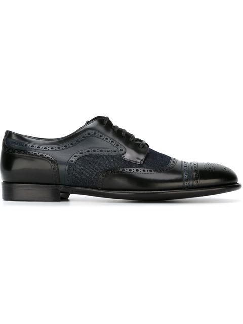 Shop Dolce & Gabbana panelled brogue shoes  in Vinicio from the world's best independent boutiques at farfetch.com. Shop 400 boutiques at one address.
