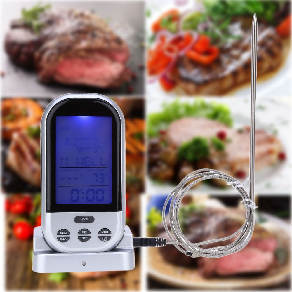 TS-BN52 Digital Wireless Kitchen Oven Food BBQ Grill Smoker Meat Thermometer