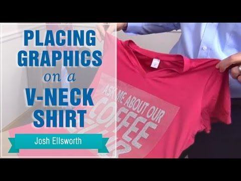 Placing Graphics On A V Neck Or Scoop Neck Shirt Sanmar