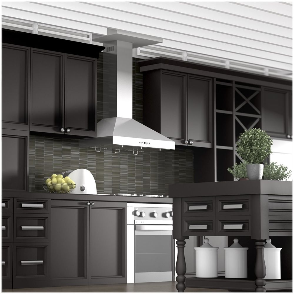 Zline 48 Externally Vented Range Hood Brushed Stainless Steel Kl3 48 Best Buy Wooden Range Hood Range Hood Kitchen Range Hood