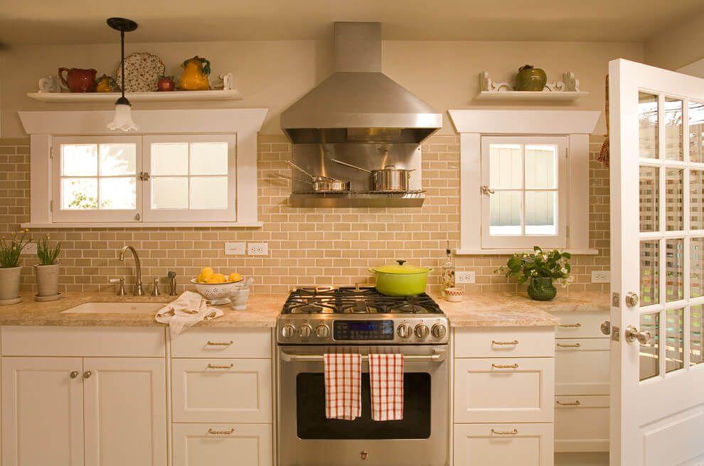 popular beige backsplash tile design