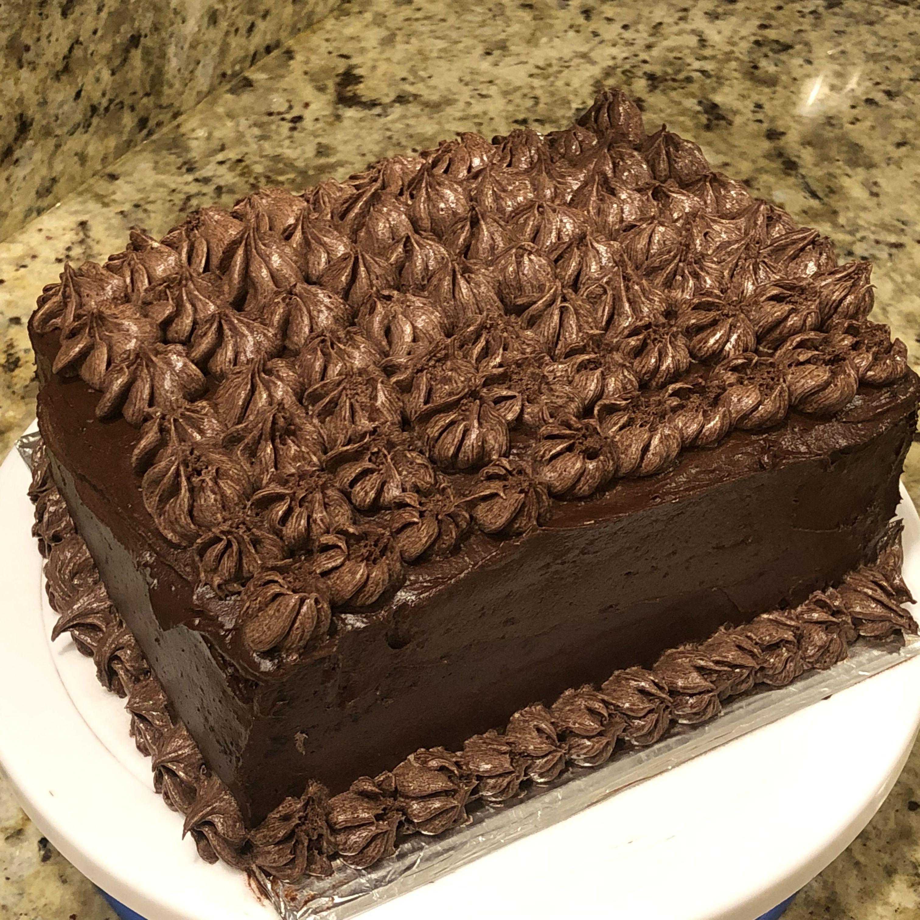 Moist chocolate layer cake recipe in 2020 chocolate