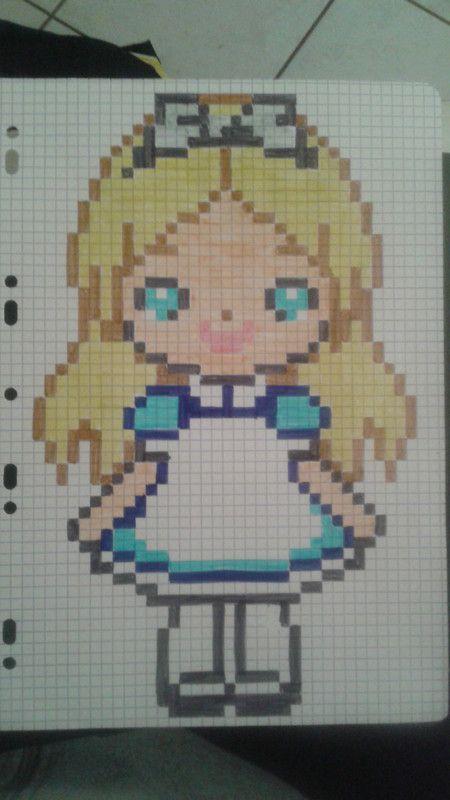 Pixel Art Alice Au Pays Des Merveilles Do Zrobienia